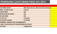 FROG VLE LUCKY DRAW PORTAL